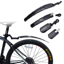 Bicycle Mudguard Folding Telescopic Bicycle Front Rear Mudguard 26 27.5 700c / 24 Inch Adjustable MTB Mountain Bike Fender Sets 1set bicycle mudguard mtb mountain bike road bicycle front rear mudguard fender and front clip on bicycle down tube fender set