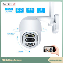 1080P PTZ Dual-Lens Wifi Camera Outdoor Auto Tracking Cloud home Security IP Camera 2MP Zoom Speed Dome CCTV Camera surveillance cctv 1080p 2mp 36x 4 in 1 starlight zoom auto tracking ptz camera motion high speed 80m mini auto tracking camera