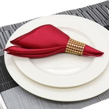50 יח\חבילה שולחן מפית 30cm כיכר סאטן בד כיס ממחטה בד לחתונה קישוט אירוע מסיבת מלון בית וגינה