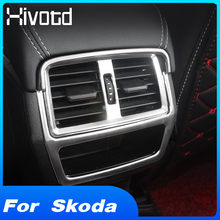 Hivotd – accessoires pour accoudoir intérieur, boîte de climatisation arrière, bande décorative pour ventilation, pour Skoda kodiaqr, 2017 – 2020