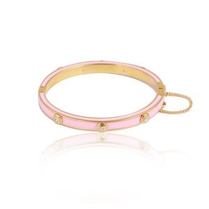 Image 3 - Европейские и американские ювелирные изделия, оптовая продажа, эмалированная цветная глазурованная Мода, простая вставка с заклепками, разноцветный браслет для девочек