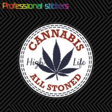 Etiquetas autoadesivas da erva daninha do vinil do decalque da etiqueta da cannabis para o carro, rv, laptops, motocicletas