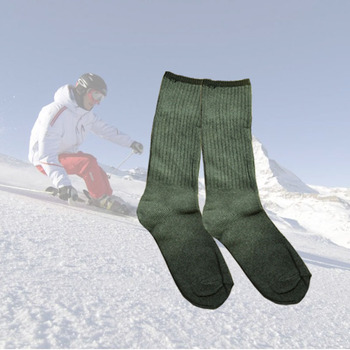 winter warm cotton socks long thick outdoor sports hunting fishing skiiing hiking Chaussette Homme Solid Color image