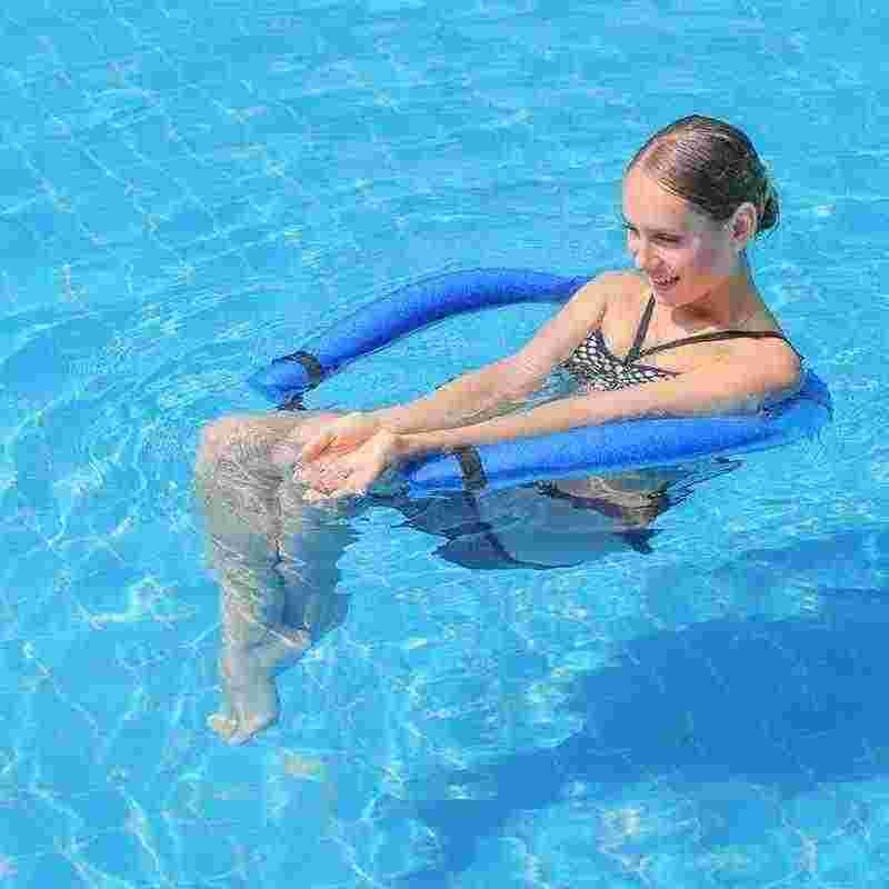 TAESOUW Floating Chair,Floating Pool Noodle Sling Mesh Chairs Blue, Large Water Relaxation