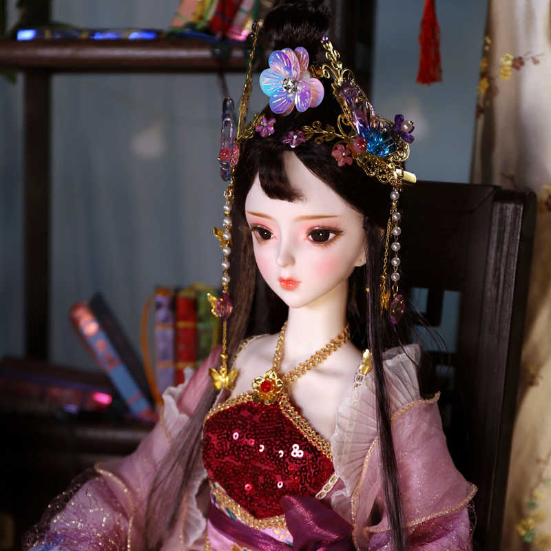 Dbs roupas para 1/3 bjd roupas antigas estilo chinês vestido