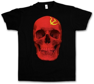 Camiseta de la bandera del cráneo de la Unión Soviética del CCCP para hombre, gran oferta, a la moda, camiseta de Totenkopf, camiseta de Rusia Fahne Russland, ropa para hombre