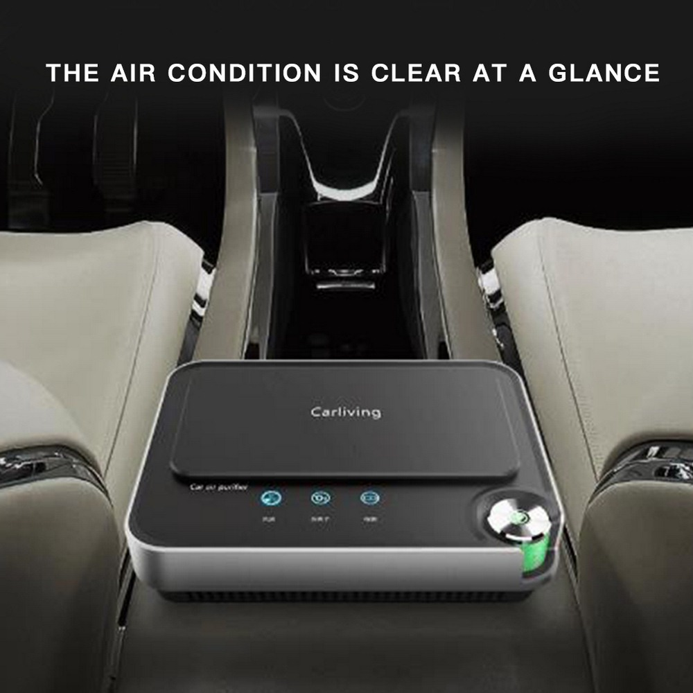Car Air Purifier 12V Negative Ion Intelligent Air Detection Three-Position Power Purification Filter Air Purifier Car Accessorie