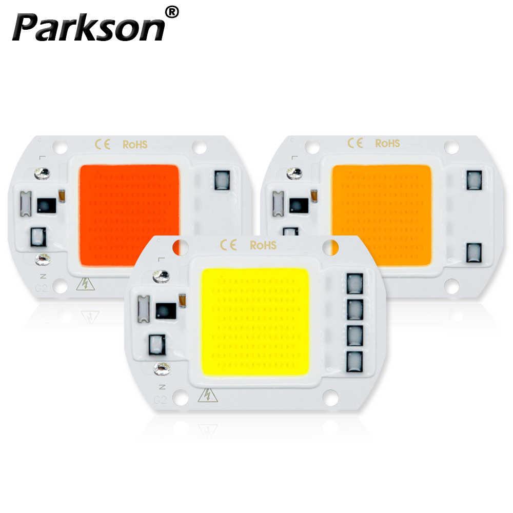 Cob led lâmpada chip 220 v 110 v lâmpada led 10 w 20 30 50 ip65 de alta potência inteligente ic diy lâmpada de inundação holofotes lâmpada de chip ao ar livre