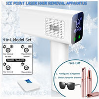 Lescolton 4in1 ICE COOL Laser Hair Removal Machine IPL Painless Epilator Hair Women Removal Permanent Skin Rejuvenation Electric