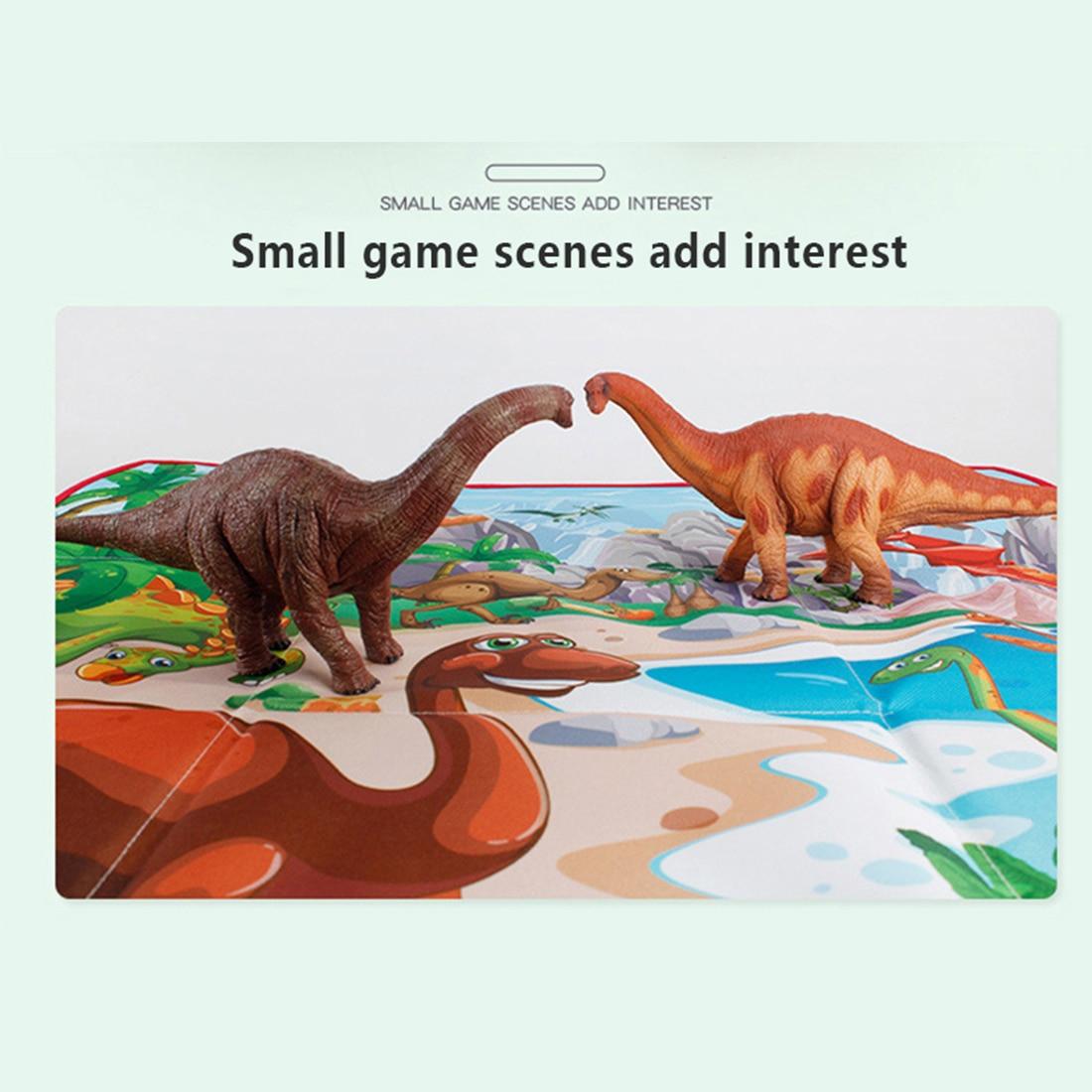 2 в 1 складной ящик для хранения динозавров сцена Ползания коврик Имитация Динозавра модель обучающая игрушка Рождественский подарок для де... - 6