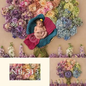 Photography Backdrops Colorful Flowers Vinyl Backdrop Newborn Baby Kids for Photo Studio