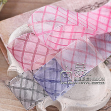 100yards 16 25 40mm diamond plaid organza sheer ribbon for bouquet flower gift packing bow hair bow diy accessories craft diy