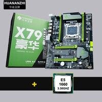 M.2 ssd 슬롯이있는 할인 마더 보드 cpu가 장착 된 huanan zhi x79 마더 보드 intel xeon e5 1660 c2 3.3 ghz 2 년 보증