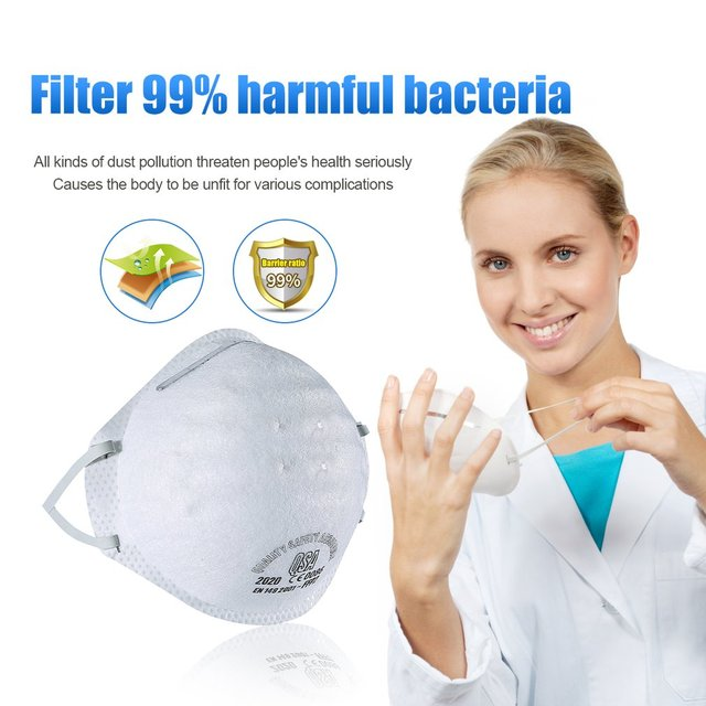 Dust Mask Antivirus flu anti infection Particulate Respirator FFP2 Level Anti-fog PM2.5 ProtectMask Safety Masks Dropshipping
