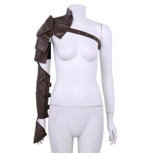 Image 4 - Unisex Gothic Steampunk PU Single Shoulder Armors Arm Strap Set Adjustable Metal Rivets Shoulder Strap Cosplay Costume Accessory
