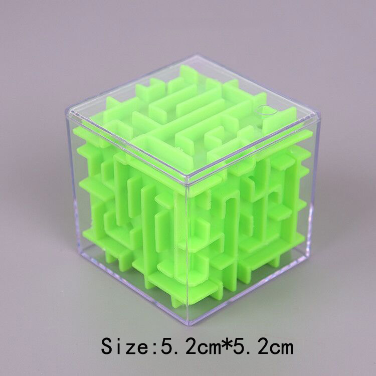 TOBEFU 3D Maze Magic Cube Transparent Six-sided Puzzle Speed Cube Rolling Ball Game Cubos Maze Toys for Children Educational 10