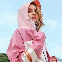 Fashion Hooded Portable Raincoat Hiking Poncho Waterproof Motorcycle Protection Rain Coat Women Poncho Impermeable Rain Jacket