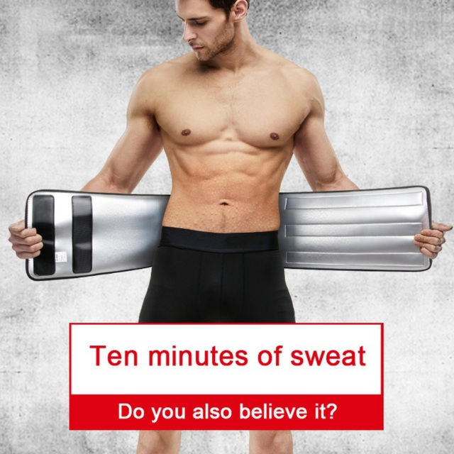 Waist Trainer Men-Waist Cincher Trimmer-Sweat Crazier Slimming Body Shaper Belt-Sport Girdle Silver Ion Belt For Weight Loss Fit