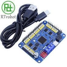 Robot de 32 canales, placa de Control Servo, controlador de servomotor PS 2 Control inalámbrico, conexión USB/UART Mod