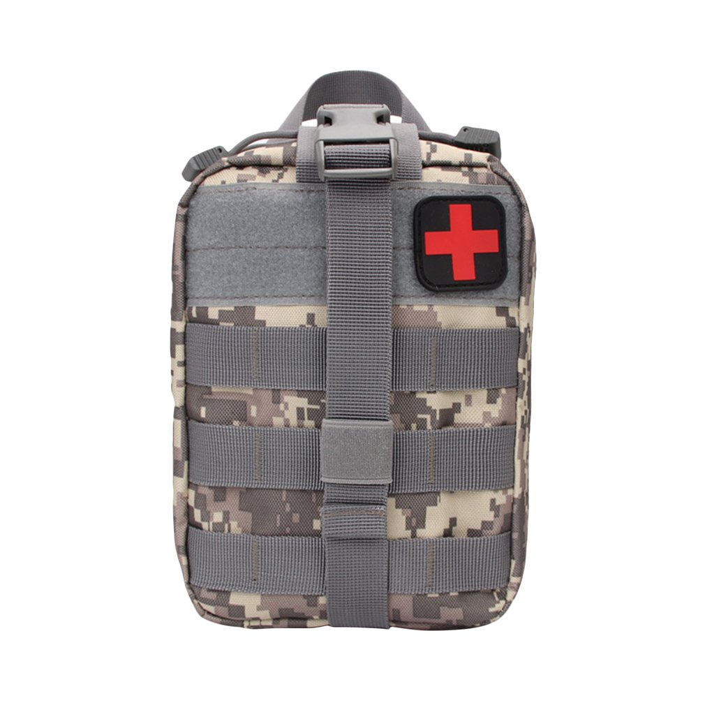 Outdoor Water First Aid Kits Travel Oxford Cloth Tactical Waist Pack Camping Climbing Bag Black Emergency Case