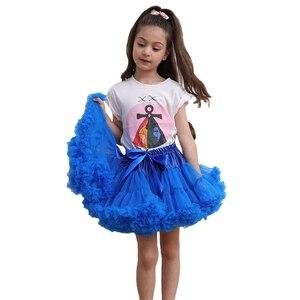 Image 4 - פרח בנות שמלות תחתוניות תחתונית קוספליי מפלגה קצרה שמלה לוליטה תחתונית בלט טוטו חצאית רוקבילי ילדים קרינולינה