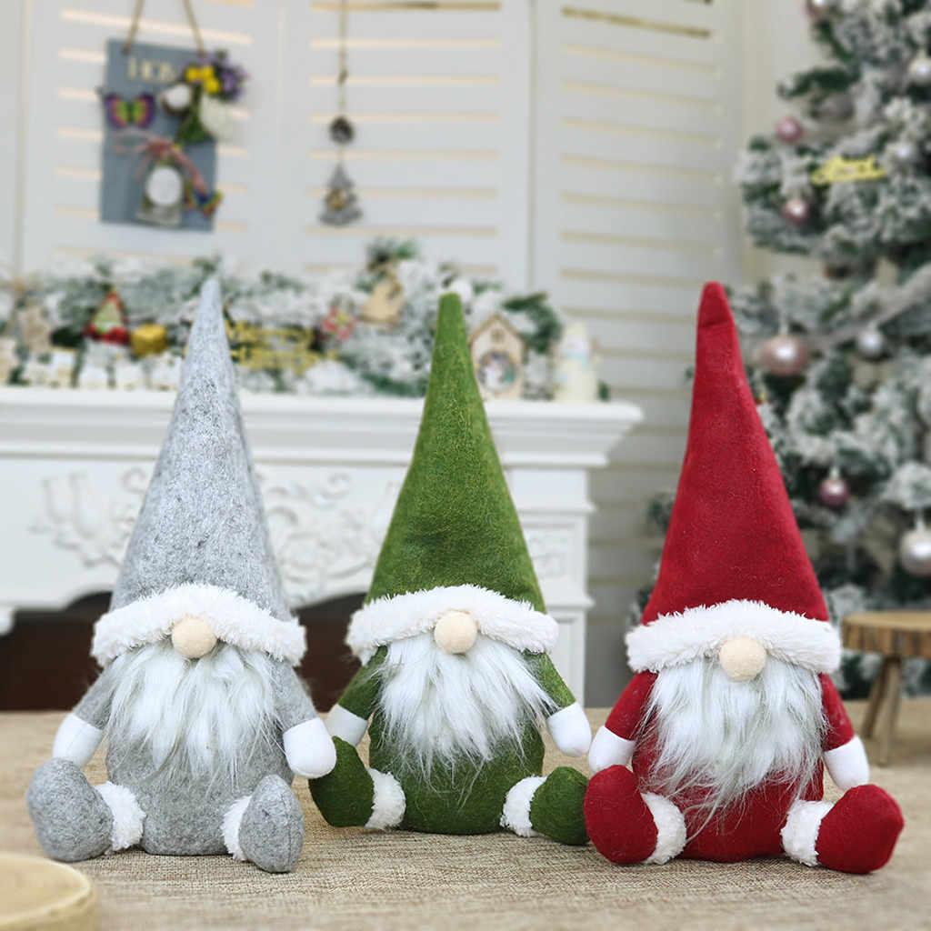25 # hecho a mano Santa muñeca de trapo regalo de cumpleaños para la familia Navidad vacaciones decoración árbol de Navidad decoraciones bonitas
