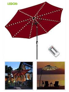Light Parasol-Lamp Ogrodowy-Lighting Patio-Umbrella Led-String Garden Flexible-Decor