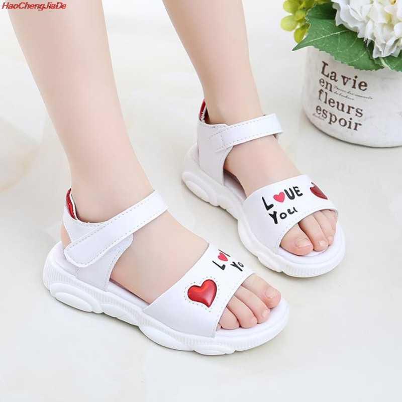 เด็กแฟชั่นรองเท้าเล็กๆน้อยๆหญิงบิ๊กเด็กเจ้าหญิงน่ารักรองเท้าแตะ 3 4 5 6 7 8 9 10 11 12 ปี
