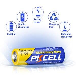 Image 3 - 50 pièces PKCELL AA batterie 1.5V aa Super robuste carbone zinc Batteries aa R6P UM 3 batterie pour jouets, appareil photo, laser, lampe de poche
