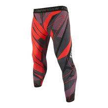 Męskie czerwone rozkloszowana spódnica oddychające legginsy do biegania sportowe legginsy do biegania męskie spodnie treningowe Fitness treningowe męskie spodnie sportowe tanie tanio Poliester Bieganie Pasuje prawda na wymiar weź swój normalny rozmiar Drukuj Tight Men Running Tights Men s tights compression pants
