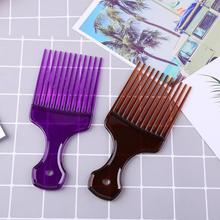 Расческа-вилка с широкими зубами для афро-волос в стиле унисекс, Парикмахерская Массажная вставка для волос, инструмент для укладки волос