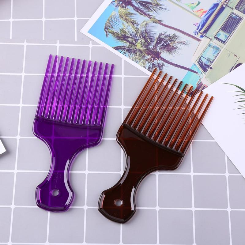 Wide Teeth Afro Hair Fork Comb Unisex Hair Style Curly Massage Hairdressing Insert Brush Hair Styling Tool
