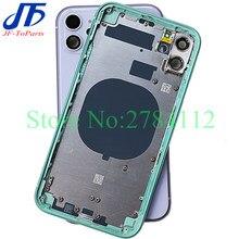 Marco medio de cristal trasero para iPhone 11 Pro Max /11/11Pro, montaje de carcasa completa, tapa de batería, la mejor calidad