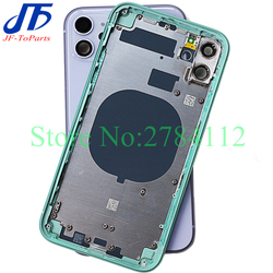 Best Quality For iPhone 11 Pro Max /11 / 11Pro Back Glass Middle Frame Chassis Full Housing Assembly Battery Cover door