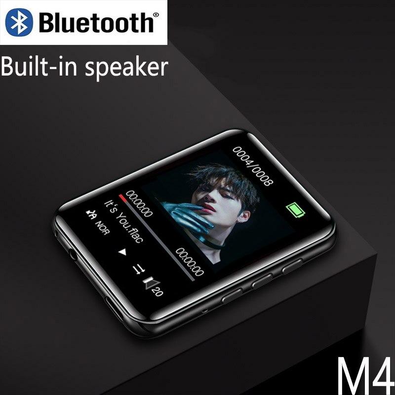 Metal Bluetooth MP3 Player E-book Radio Recording Mini Full Screen Built-in Speaker Walkman Video Playback