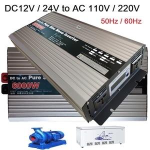 Image 3 - Zuivere Sinus Omvormer 12V/24V/48V/60V Naar 110V 220V 4000W 5000W 6000W Transformator Converter Pure Sinus Solar