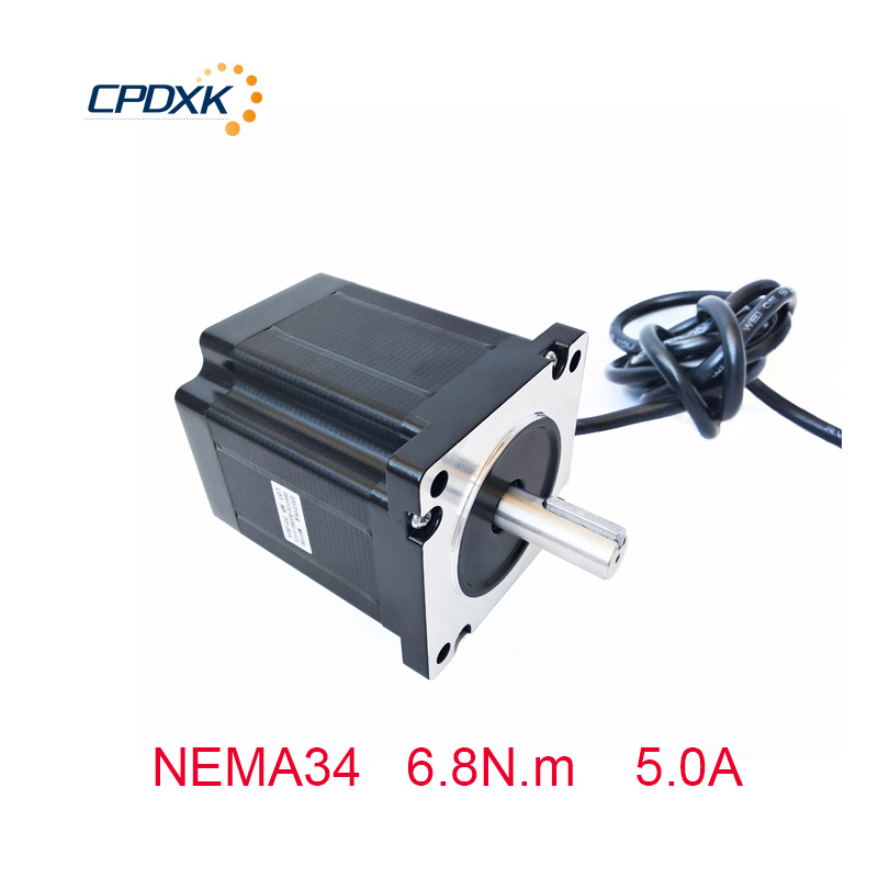 CNC kit stepper motor NEMA34 86HS100-5004A14-B25 body length 100mm 5.0A 6.8N.m for CNC router