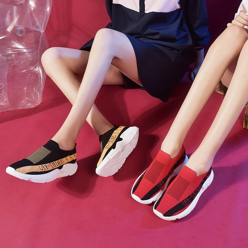 Women Flats Shoes Zapatos Mujer Light Flat Casual Mesh Breathable Sneakers Slip on Shoe Woman Sapato Chaussure A16