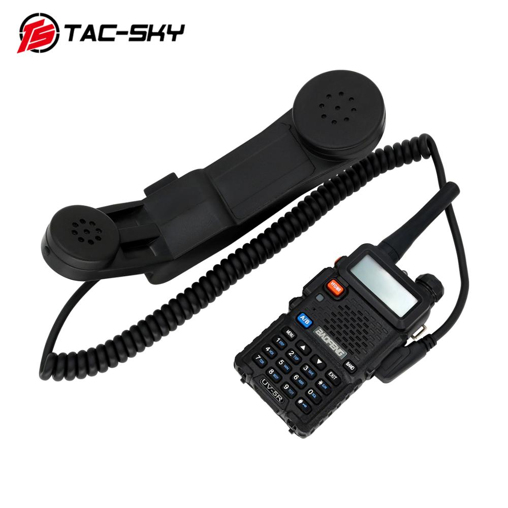 TAC-SKY PTT H250 PTT Walkie-talkie Ptt 2-pin K-plug Hand-held Speaker Microphone Microphone Can Also Be Worn. BK