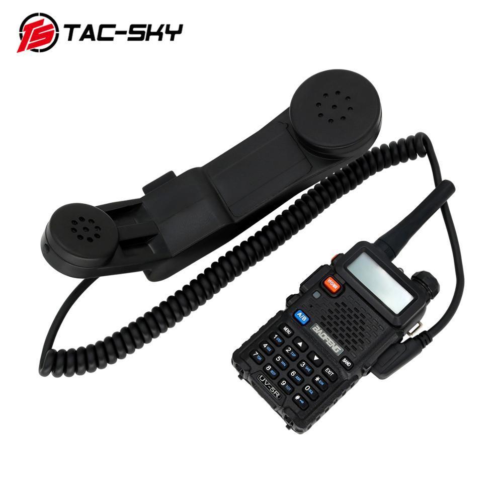 TAC-SKY PTT H250 PTT Walkie-talkie Ptt 2-pin K-plug Hand-held Speaker Microphone Microphone Can Also Be Worn. BK