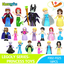 20pcs/lot Princess Series Fairy Godmother Maleficen Compatible Legoings Building Blocks Figures Toys Bulk Specials