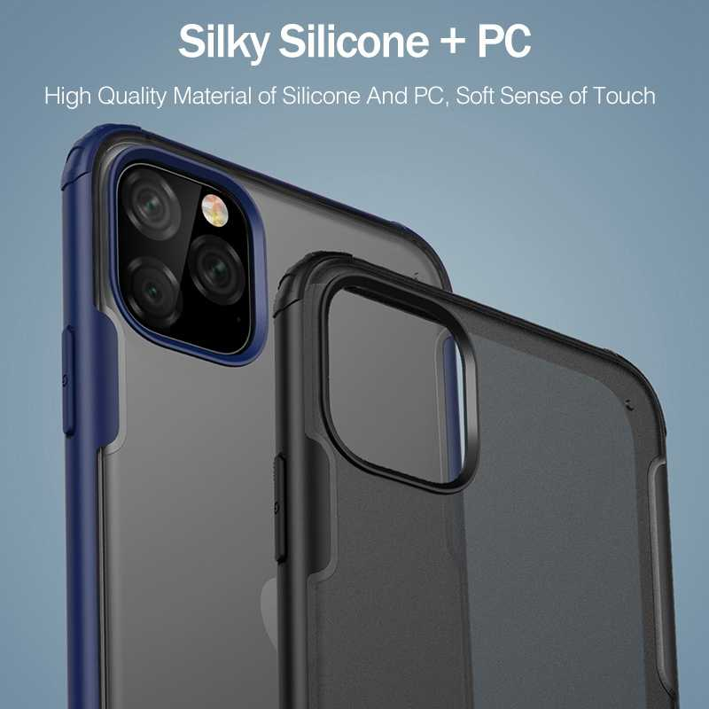 YKZ Luxus Stoßfest Fall Für iPhone 11 Pro XS MAX Fall Abdeckung Für iPhone X XS XR 7 8 Plus ultra Dünne Schlank Matte Hard Zurück Coque