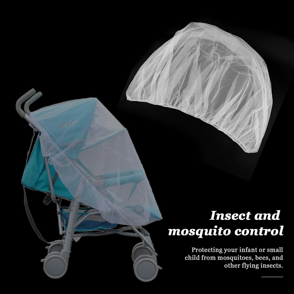 Summer Baby Stroller Mosquito Insect Net Cover Fit Pram Bassinet Pushcar Seat