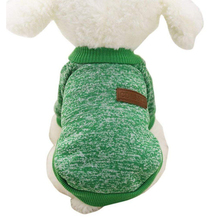 цена на Pet Dog Sweater Warm Winter Puppy Pet Coat Soft Sweater Clothing for Small pet - Green