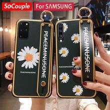 SoCouple – coque avec dragonne pour Samsung, compatible modèles Galaxy S20 FE S21 Ultra S8 S9 S10 Note 10Plus A50 51 70 71 20 30s 40 21s
