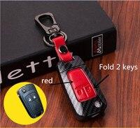 Accesorios de coche Funda de cuero genuino para llave de coche Chevrolet Cruze 2013 Spark Onix Silverado Volt Camaro Aveo|Carcasa de llave para coche| |  -