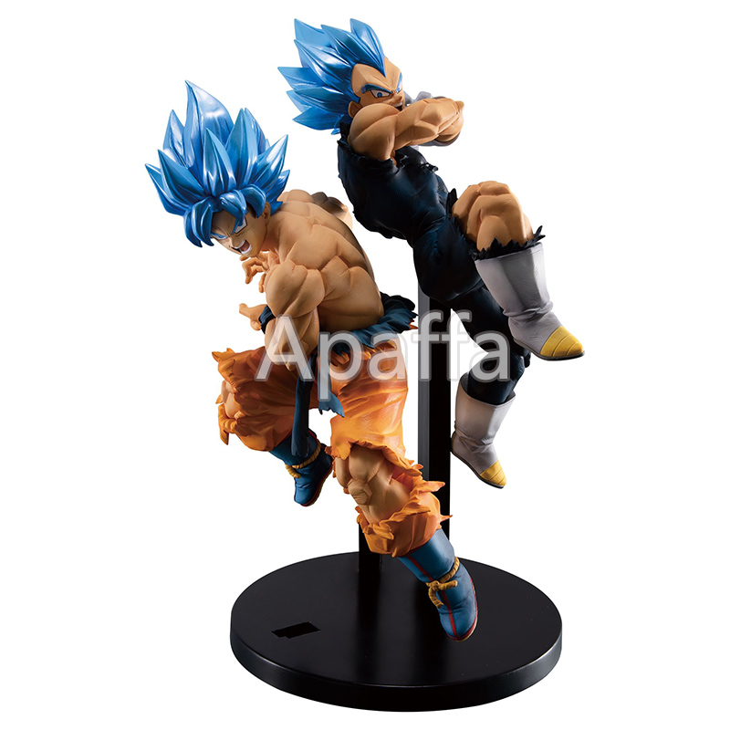 17cm Anime Dragon Ball Z Super Saiyan Blue Hair Son Goku Vegeta PVC Action Figure Collection Doll Toys Christmas Gift