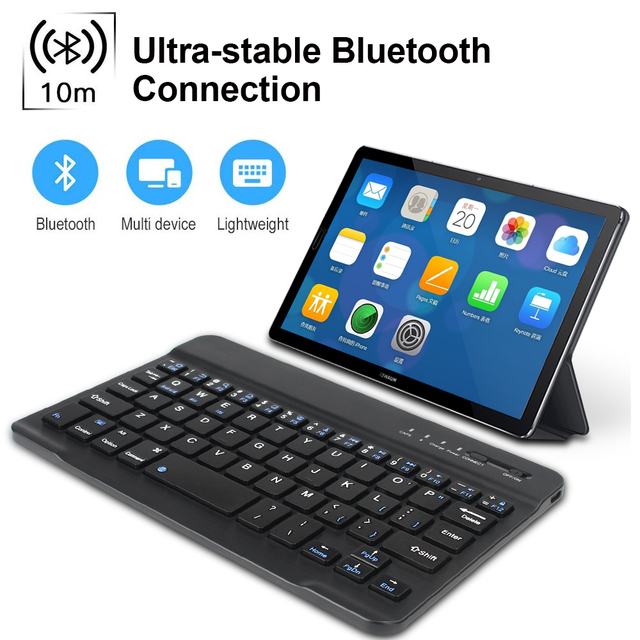 Mini Wireless Keyboard Bluetooth Keyboard And Mouse Keycaps Russian Bluetooth Keyboard Rechargeable For ipad Phone Tablet Laptop 2