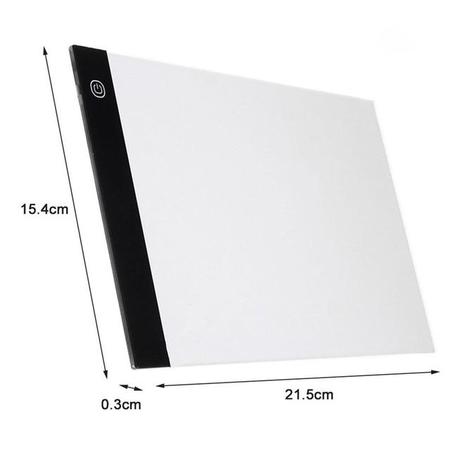 A4/A5 LED Tavoli Da Disegno Tracing Bordo Copia Pastiglie A4 LED Tavolo Da Disegno Tablet Piastra di Arte Artigianato di Scrittura Lampada Da Tavolo box 6