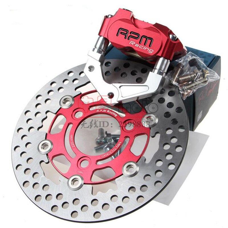 For Yamaha Aerox Nitro BWS 100 JOG 50 rr RPM motor Motorcycle Brake Caliper+Brake Pump Adapter Bracket+200mm/220mm Brake Disc